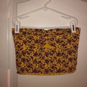 Urban Outfitters Yellow Floral Keyhole Crop Top